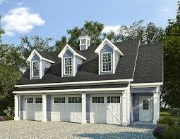 3 car garage plans with apartment plan 36058dk 3 car carriage house plan with 3 dormers carriage