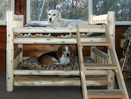 Doggie Bunk Beds For Dogs That A Rustic Aesthetic Luxury Log Beds And