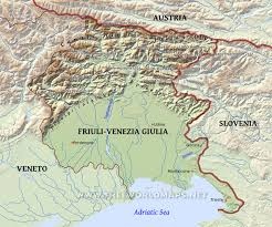 Physical Map Of Italy by Friuli Physical Map