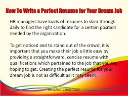 how to write a perfect resume for your dream job 2 638 jpg cb u003d1385012787