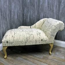 printed linen calligraphy script chaise longue sofa sophie decor