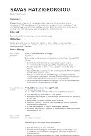Retail Department Manager Resume Product Development Manager Resume Samples Visualcv Resume