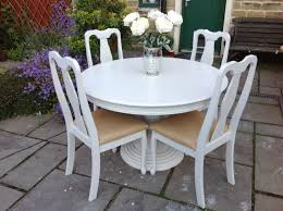 Dining Chairs Shabby Chic Shabby Chic White Round Dining Table U0026 4 Vintage Chairs Shabby