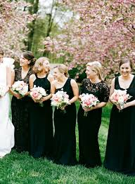 black bridesmaid dresses bow awards the best bridesmaid dress looks of 2014 wedding