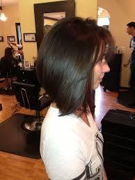 modified bob hairstyles long inverted bob haircuts with bangs for straight thin hair 2017