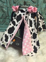 Pink Car Seat Canopy by Infant Car Seat Cover Cow Print Car Seat Cover Nursing Cover