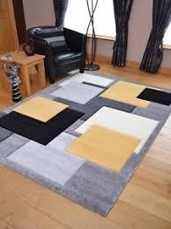 modern silver floor l modern thick quality lt silver grey gold yellow floor mat rugs long