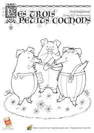 Coloriage Les Trois Petits Cochons