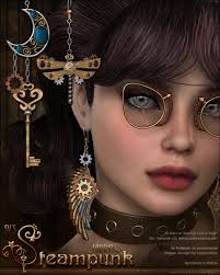 skyrim earrings sv s steunk earrings 3d figure assets sveva