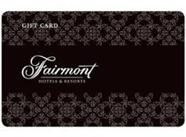 hotel gift card fairmont hotels resorts gift card usd100 purchase gift card