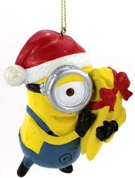 3 5 despicable me minion carl with gift wrapped