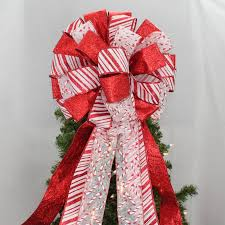 christmas tree bow topper candy sparkle christmas tree bow topper 13 wide package