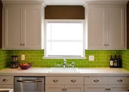 green subway tile kitchen backsplash lush ready glass subway tile lemongrass 3x6 subway tiles