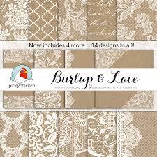 rustic wedding scrapbook burlap wedding paper burlap lace digital paper rustic