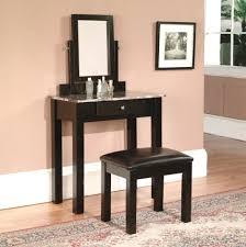 Bedroom Makeup Vanity Ideas L Shaped Bedroom Makeup Vanity Ideas With Corner Tiered Shelves