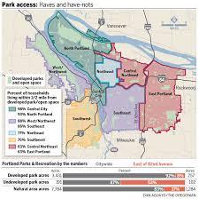 Nba Divisions Map East Portland Left With Sparse Patchwork Of Parks Oregonlive Com
