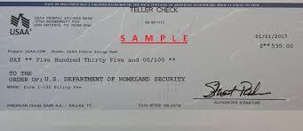 visa harmony sample check for i 130