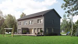 semi detached wooden house 3d architectural visualization viscato 3d exterior rendering of a semi detached