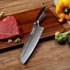 razor sharp kitchen knives sunnecko 7 inch santoku kitchen knife damascus steel razor sharp