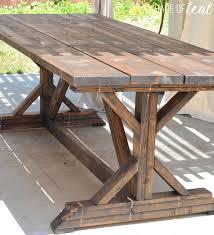Farm House Table Building A Outdoor Rustic Farmhouse Table