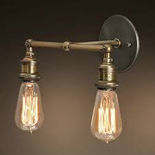 baycheer hl372217 industrial retro vintage style light double