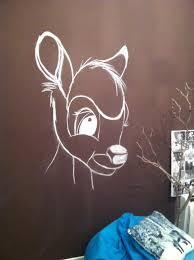 dessin mural chambre fanart justinebambi dessin mural