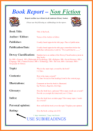 middle school book report template 6 non fiction book report template middle school progress report