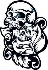rose skull tattooforaweek temporary tattoo largest temporary