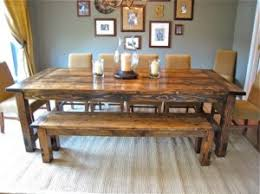 Rustic Wood Dining Room Table Rustic Dining Room Table Stylish Set Home Improvement Ideas Within