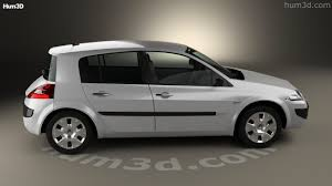 renault megane 2006 360 view of renault megane 5 door hatchback 2006 3d model hum3d