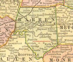 kentucky map barren county kentucky 1905 map glasgow ky