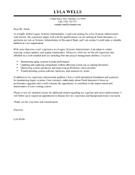 ideas of sample cover letter for system administrator job with