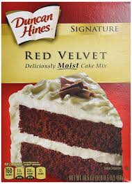 amazon com duncan hines signature red velvet cake mix 16 5