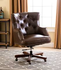 Leather Office Chair Office Chairs Roosevelt Brown Leather Office Chair