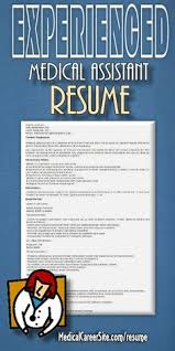 Sample Medical Assistant Resume by Medical Assistant Resume Cover Letter Http Www Resumecareer