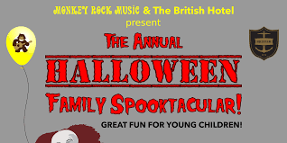 monkey rock music halloween party and fundraiser the british