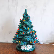 porcelain christmas tree with lights best vintage ceramic christmas trees products on wanelo