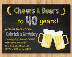 30th birthday invitation beer party invitations chalkboard