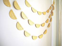gold glitter garland gold glitter scalloped garland