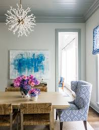 painting trim dining room beach style with flowers traditional
