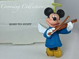 disney grolier mickey mouse angel ornament christmas in box