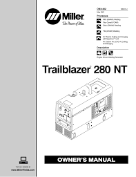 Dimension Bloc Porte by Miller Electric 280 Nt Owner S Manual