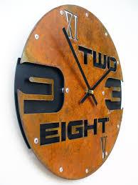 outnumbered i medium rustic wall clock unique wall clock