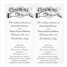 wedding ceremony bulletin template 19 wedding ceremony templates free sle exle format