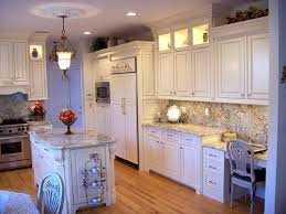 How To Antique Paint Kitchen Cabinets Antique White Kitchen Cabinets With Chocolate Glaze Home Design