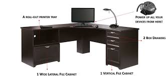 Shaped Desks L Shaped Outlet Desk Cherry Finish 30 H X 70 9 10 W X 23 1 5 D