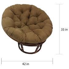 Rattan Papasan Chair Cushion International Caravan Bali 42 Inch Rattan Papasan Chair With Cushion
