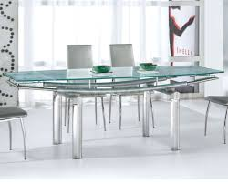 furniture interesting glass top dining table design with rattan