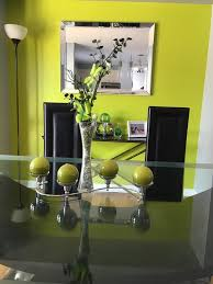 Lime Green Dining Room Bright Lime Green Dining Wall Accent
