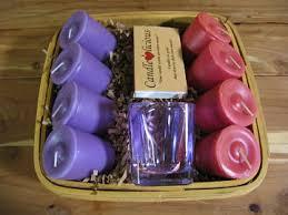 candle gift baskets candle gift basket choose 2 scents votive holder color